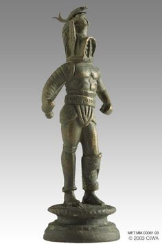 Samnite Gladiator | bronze statuette of a samnite gladiator on of the most heavily armed ...