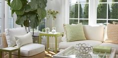 oomph everywhere! Southport Coffee table, Newport Side Table, oomph tini, Chatham Chair, and pillows!