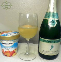 Peach Sorbet + Champagne = Easy Bellinis!!!
