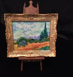 Josephine Meyer, IGMA artisan - Painting Wheatfield With Cypresses after Van Gogh