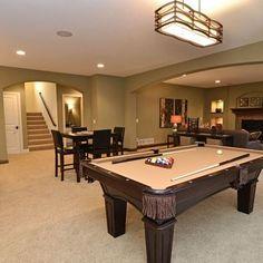 Basement game room ideas on pinterest rec rooms basements and pool tables - Basement rec room ideas ...