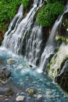 Shirahige Waterfall in Biei, Hokkaido, Japan