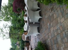 I love entertaining outdoors and this outdoor table set from A Proper Garden in Powell is just lovely. #furnishings