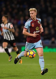 Burnley defender Ben Mee in action during the Premier League match between Burnley and Newcastle United at Turf Moor on October 30, 2017 in Burnley, England.
