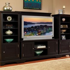 Home Styles Bedford 4-Piece Entertainment Center - Ebony  (Meijer)
