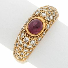 Estate Jewelry:Rings, Ruby, Diamond, Gold Ring. ... Image #1