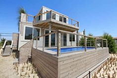 Would you even guess that the Beach Box, a beach house in the Hamptons, was made from shipping containers?
