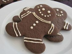 Gingerbread Men Cookies -- gluten-free, dairy-free