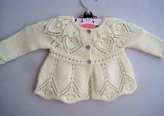 Ravelry: Annie Cardi pattern by Suzie Sparkles. Baby cardi knitting pattern, girls cardigan knit pattern, top down knitting, seamless knitting, one piece.