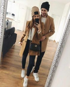 Outfit goals you should try with your boyfriend Outfit goals you should . - Outfit goals you should try with your boyfriend Outfit goals you should try with your - Matching Couple Outfits, Matching Couples, Cute Couples, Mode Outfits, Winter Outfits, Casual Outfits, Fashion Outfits, Trend Fashion, Look Fashion