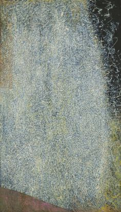 Mark Tobey ~ The Edge of August ~ 1953 ~ Casïne op bordkarton ~ 121,9 x 71,1 cm. ~ Museum of Modern Art, New York ~ © 2016 Estate of Mark Tobey / Artists Rights Society (ARS), New York