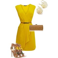 Yellow Ruffle Dress :)