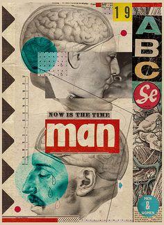 Illustration Man Is Time, N19