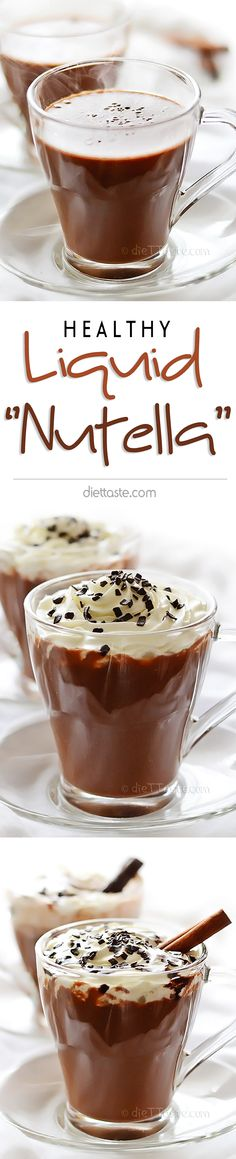 """Liquid """"Nutella"""" - thick, creamy, chocolate drink with wonderful hazelnut aroma, that is actually good for you - diettaste.com"""