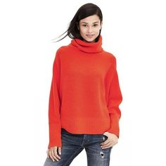 Banana Republic Red Oversized Turtleneck Sweater ❤️ Banana Republic Oversized Turtleneck Sweater ❤️  * Brand new with tags * Size Medium/Large * Color: Geo Red {Bright red-orange} * Super-soft, extra-luxe drapey turtleneck has a touch of stretch for comfort. * Ribbed trim. * Body/Collar: 55% Nylon, 32% Wool, 10% Alpaca, 3% Spandex  Please make all offers through the offer button!  Closet Policies * No Trades * No Holds * No ️️ Banana Republic Sweaters Cowl & Turtlenecks