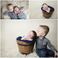 So cute!newborn baby boy with brother @Christina Church