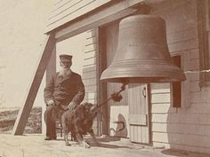Thomas H. Orcutt, a veteran sea captain from Sedgwick, Maine, was keeper of Maine's Wood Island Lighthouse from 1886 until his death in 1905. Keeper Thomas Orcutt's dog, Sailor, a mostly-black mongrel (described as a Scotch Collie in one article), was taken to the island as a two-month-old puppy and went on to achieve wide fame. The self-trained Sailor developed the habit of vigorously ringing the fog bell with his teeth for every passing vessel.