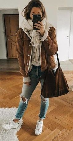 Cute Winter Outfits for Teenage Girls : Trajes de Invierno Simple Fall Outfits, Winter Outfits Women, Casual Winter Outfits, Winter Fashion Outfits, Look Fashion, Trendy Outfits, Autumn Fashion, Summer Outfits, 2000s Fashion