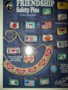 Friendship Safety Pin Jewelry Pattern Booklets by fenderbearsnook