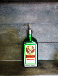 Jagermeister Soap Dispenser Made from Recycled by BottleRehab