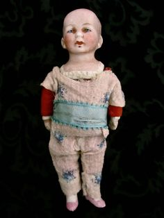 """Antique Bisque 6"""" Dollhouse Doll.  SOLD"""