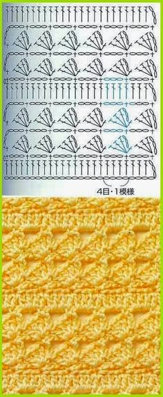 Watch This Video Beauteous Finished Make Crochet Look Like Knitting (the Waistcoat Stitch) Ideas. Amazing Make Crochet Look Like Knitting (the Waistcoat Stitch) Ideas. Crochet Stitches Chart, Crochet Diagram, Crochet Motif, Knitting Stitches, Crochet Designs, Crochet Patterns, Crochet Squares, Crochet Granny, Knitting Charts