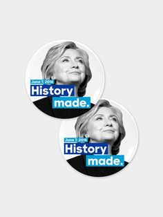 History Made Button Combo: We made history together! Celebrate Hillary becoming the first woman to top a major presidential ticket with this commemorative button. Hillary Clinton 2016, Great Hobbies, I Still Love You, How To Make Buttons, Girl Power, Woman Power, Pin And Patches, Stupid People, Powerful Women