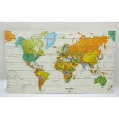 Moderne wereldkaart print