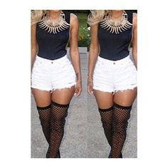 Rotita Cutout Side Sleeveless Black Bodycon Bodysuit ($16) ❤ liked on Polyvore featuring black