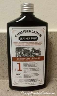 Chamberlain's Leather Milk #giveaway #leather