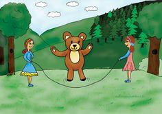Misiu, misiu wskocz do klatki zabawa Teddybär, Teddybär