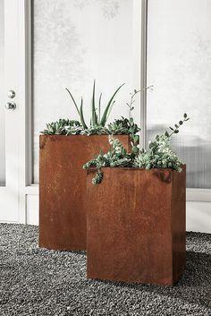 41 best contemporary planters ideas images backyard patio gardens rh pinterest com