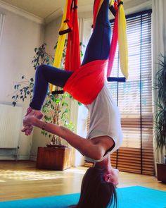 Aerial yoga swings Brighton.  At MadHatter Studio every Weds & Thurs from 7pm. www.joyfullotusyoga.co.uk