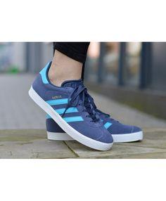 buy popular b748e be253 Adidas Gazelle Junior Deep Blue Trainer