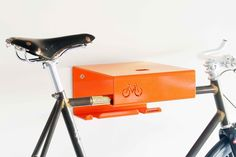 Minimalist indoor bike rack designed for modern cycle storage in small city flats. Designed by Cyclehooop