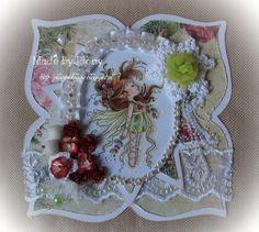 Plony's Blog vol met knutsels en frutsels.... Winter Fairy, Shape Art, Box, Decorative Plates, Stamp, Brooch, Shapes, Cards, Flower