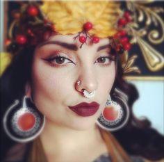 Happy Friday! Doesn't @queenofsaturn look absolutely radiant in our Afghan Septum Ring and her handmade leaf crown? http://www.tawapa.com/sterling-silver-afghan-septum-ring-medium-diameter #tawapa #septumring #itsfall #autumn #dtla #piercing #septum #septumpiercing #safepiercing #legitbodyjewelry