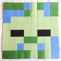 This is the last main block of the Minecraft Quilt! And just in time for Halloween, get ready to create your Zombie block. I think he's kind of cute, don't you? To create the Zombie blo… Minecraft Blanket, Minecraft Pattern, Minecraft Blocks, Minecraft Room, Minecraft Ideas, Minecraft Gifts, Minecraft Stuff, Boy Quilts, Quilt Sizes
