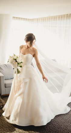 Simple Romantic Ballgown Wedding Dress was designed to look and feel lush, timeless and romantic. Bianca Marie was a perfect fit for this real bride looking for a sleek style that made her feel like the belle of the ball. Tap the link to find out how this real bride customized her wedding gown to her taste.