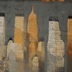 Paul Balmer Cityscape 24x24 oil on canvas