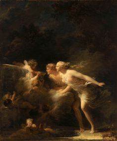 The Fountain of Love by Jean-Honore Fragonard , French Rococo painter known for erotic interior scenes and landscapes -The Athenaeum Love Canvas, Oil On Canvas, Canvas Art, Love Painting, Painting & Drawing, Rococo Painting, Fragonard Paintings, Jean Antoine Watteau, Art Magique