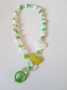 larinet kids peace sign necklace