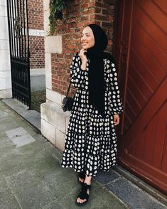 Buy online modest dresses for women Hijab Style Dress, Modest Fashion Hijab, Modern Hijab Fashion, Hijab Fashion Inspiration, Hijab Chic, Hijab Outfit, Muslim Fashion, Hijab Mode, Mode Abaya