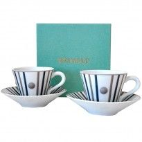 Coffret 2 tasses et soucoupes à thé www.trend-on-line.com Lettering, News, Tableware, Cup And Saucer, Mugs, Casket, Products, Dinnerware, Tablewares