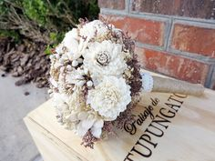 Fall Rustic Natural Bouquet- Vintage Wedding Bouquet, Outdoor and Garden Wedding, Woodland, Country