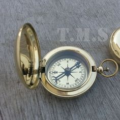 New Brass Handmade Pocket Compass Push Button Compass Vintage Gift Nautical | eBay