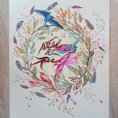 Nieśmiałe próby Justyny z boho #sketcheoftheday #bohoart #drawingart #birdsdrawing #drawings #bohostyle #featherart