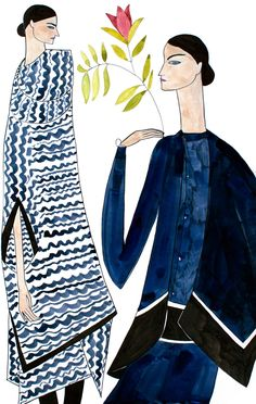Kelly Beeman 6 Modern Guache. I like Beeman's combination of abstract style with her use of gauche. I also like how not all the of the gauche is opaque - some is more watered down, allowing to some tone and form to come into the illustration.
