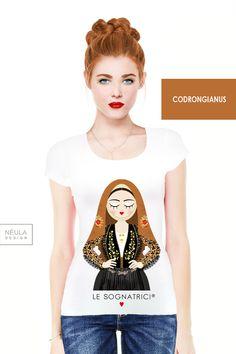 T-shirt Le Sognatrici - Codrongianus - tees - traditional dress - abito tradizionale -