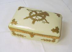 Vintage French Porcelain Trinket Box Vanity by ReVampingVintage